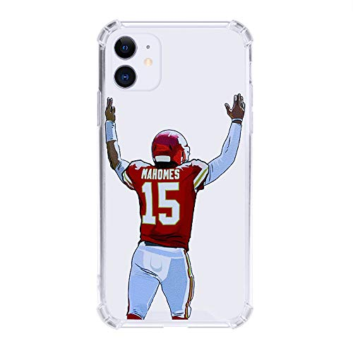 Mahomes MVP Clear Case Full Protective Luxury Hard Case Premium Quality Silicone TPU Fashion Headphones Designer Case Compatible with iPhone (iPhone 7/8/SE 2020)