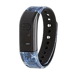 cheap RBX Active RBXTR001M3 Bluetooth Activity Tracker, Black / Blue