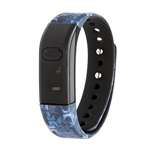 RBX Active RBXTR001M3 Bluetooth Activity Tracker, Black/Blue