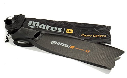 Mares Pure Instinct Razor Carbon Spearfishing Fins, Black, Size 7/8 (41/42)