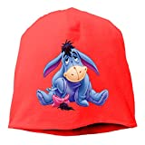 Winnie The Pooh Eeyore Adult Beanies Caps Warm Hedging Cap Skull Hats Red