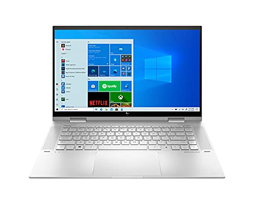 """HP Envy x360 – 15t Home and Business Laptop (Intel i7-1165G7 4-Core, 16GB RAM, 512GB PCIe SSD, Intel Iris Xe, 15.6"""" Touch Full HD (1920×1080), Active Pen, Fingerprint, WiFi, Win 10 Pro) with Hub"""