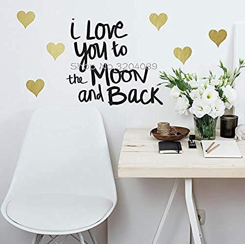 47x42cm romantische Liebe zum Ausdruck bringen Kunst Zitat Satz Wandaufkleber, Home Deco, Abnehmbare Aufkleber, wasserdichte Wand Poster, PVC-Material Tapete