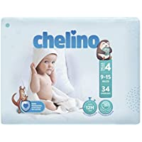 Chelino Fashion & Love - Pañales para bebés con un peso comprendido entre 9 y 15 kilos, Talla 4, pack de 34