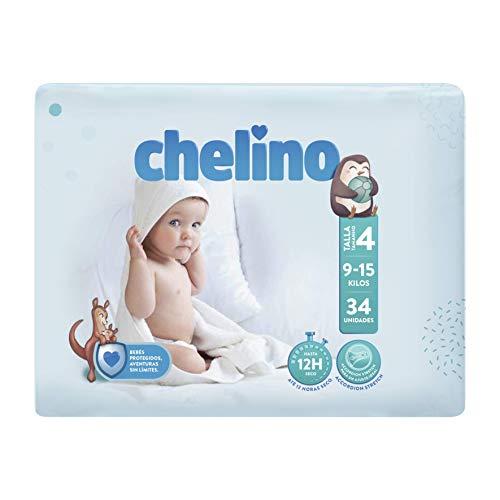 Chelino Fashion & Love - Pañales para bebés con un peso comprendido entre 9 y 15 kilos, Talla 4