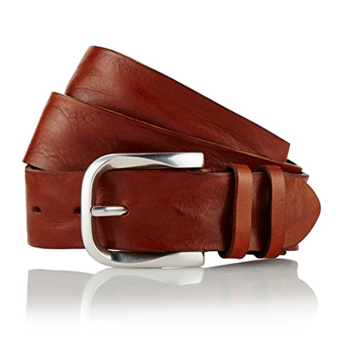 GUT INSTINKT - Cinturón de mezclilla para hombre de cuero italiano de lujo artesanal - KALÉ