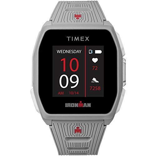 TIMEX Ironman R300 GPS Smartwatch mit optischer Herzfrequenz, hellgrau, 41mm,