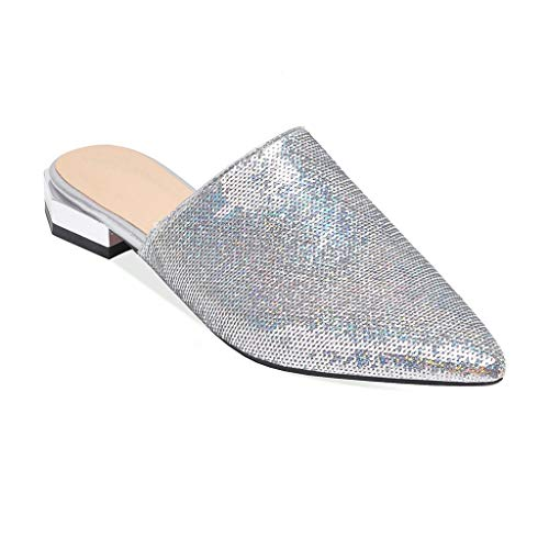 Top 10 best selling list for silver backless flat shoes