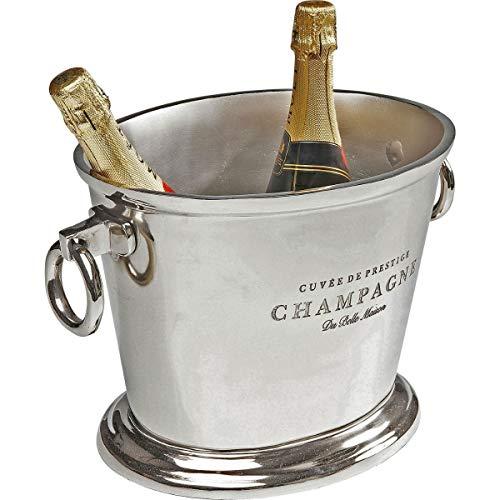 Kare Design 61301 Secchiello per Vino Champagne Du Belle, Alluminio nichelato, Argento