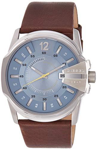 Diesel Herren Analog Quarz Uhr mit Leder Armband DZ1399