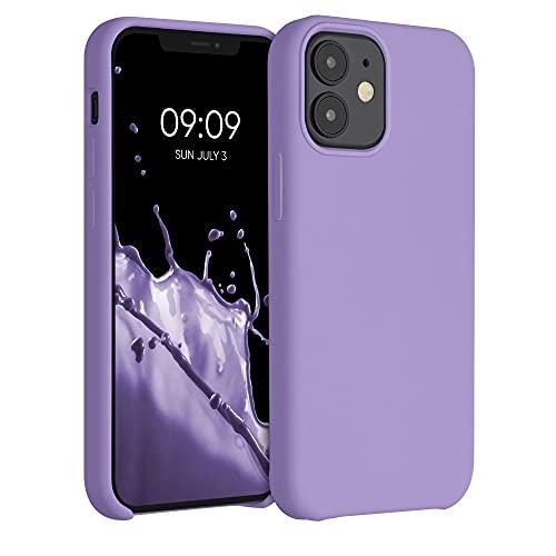 kwmobile Custodia Compatibile con Apple iPhone 12 Mini - Cover in Silicone TPU - Back Case per Smartphone - Protezione Gommata Lavanda Lilla