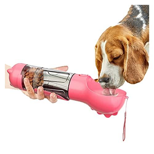 QOXEFPJZ borraccia per cani Portable Pet Dog Water Bottle Multifunzionale cibo cibo alimentatore alimentare bere ciotola all'aperto per animali domestici per animali domestici forniture per animali do