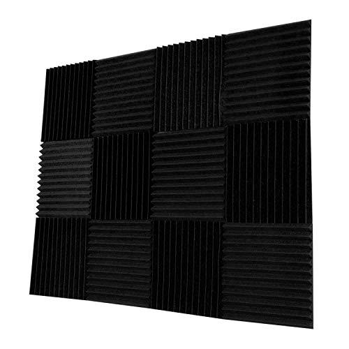 Dapuly Akustikschaumstoff, 30 x 30 cm, 12 Stück