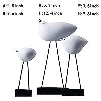 ShiSyan 置物 贈り物 彫刻[装飾]、樹脂は鳥の飾りソフト装飾デスクトップデコレーションホームデコレーションホワイト12.4inch、ホワイト、12.4inch工芸品(カラー:ホワイト、サイズ:12.4inch) プレゼント インテリア