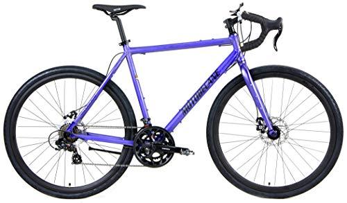 Motobecane Gravel X1 Disc Brake Super Road Bike (Matt Royal Blue, 54cm fits Most Cyclist 5'7' to 5'9')