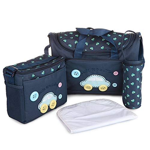 Egab Nappie Diaper Changing Bags Sets - 4Pcs - Navy Blue