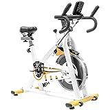Altera Bicicleta Spinning Uso Rudo Fitness Profesional Rueda 18 kg (Blanco)