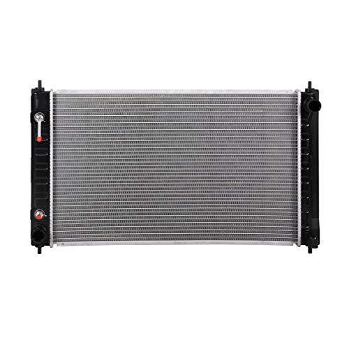 Lynol Cooling System Complete Aluminum Radiator Direct Replacement Compatible With 2007-2018 Nissan Altima 2009-2019 Maxima L4 V6 2.5L 3.5L