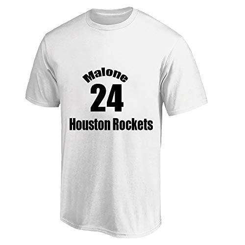 W&F Camiseta de manga corta para hombre Moisés Malone # 24, transpirable, para gimnasio, tallas S-XXXL