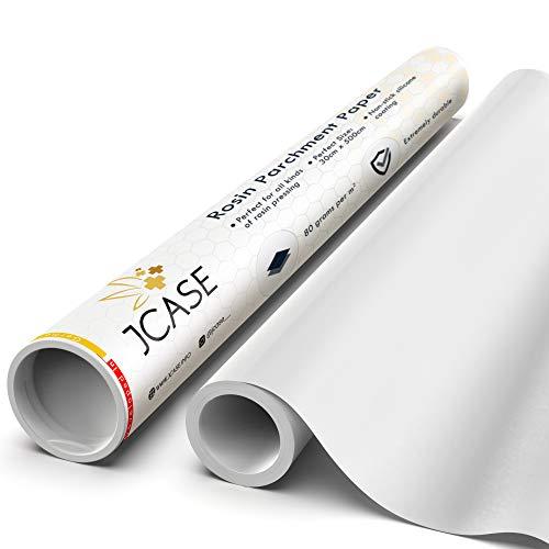 JCASE Rosin Backpapier extra stark 80g per m2 Parchment Paper Hitzebeständigkeit bis 260grad Silikon Antihaftbeschichtung (White)