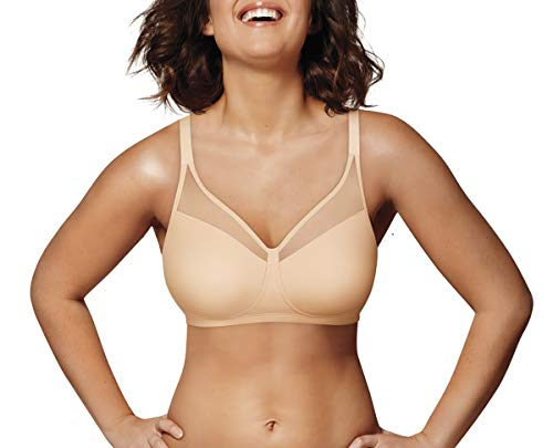 Playtex Women's 18 Hour Smoothing Minimizer Wirefree Bra US4697, Nude, 36DD