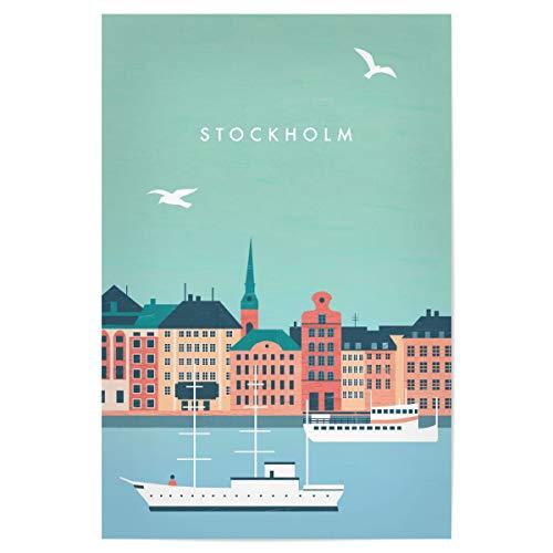 artboxONE Poster 30x20 cm Städte/Stockholm Stockholm Illustration - Bild Stockholm schweden Stadt