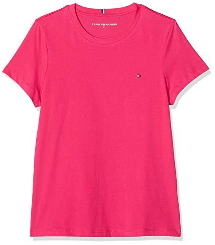 Tommy Hilfiger Damen New Crew Neck Tee Sport Pullover, Pink (PINK TZ8), 75 (Herstellergröße: X-Large)