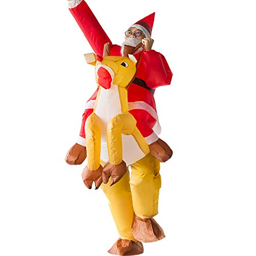 Inflatable Clothing Funny elk Costume Inflatable Christmas Santa Claus Suit Adults Child Costume Cosplay Party