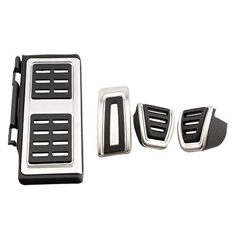 Pedales de Coche LHD de Acero Inoxidable Cubierta de Pedal de Descanso de Freno automático, Apto para Audi S3 2014-2021