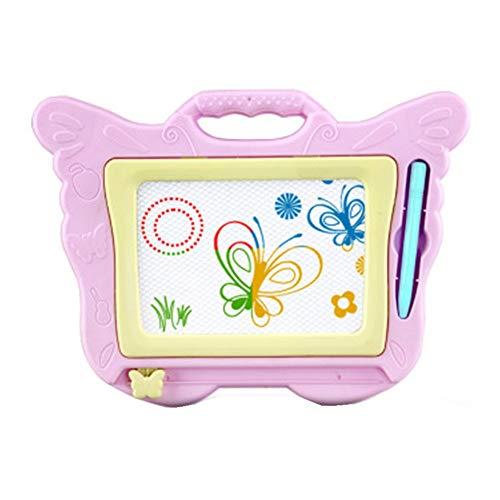 XuZeLii Caballete para Niños Doodle del Tablero de Dibujo de Colores for niños Pad Junta Garabato con la Pluma for niños pequeños niños Regalos Adecuados para Niños (Color : Pink, Size : 25x18cm)