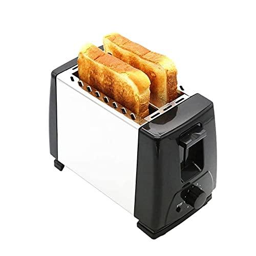 UOOD Casa Multifunzione Tostapane B attrezzo Piccolo Tostapane in Acciaio Inox Automatico Tostapane Noodle panino Fette Acciaio Inossidabile Nero Ampia Fessura per Il Pane