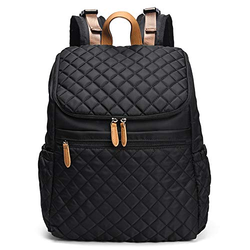 Large Capacity Diaper Bag Backpack for Mom with Stroller Buckles, Waterproof and Stylish, Suitable for Shopping,Travelling (black)