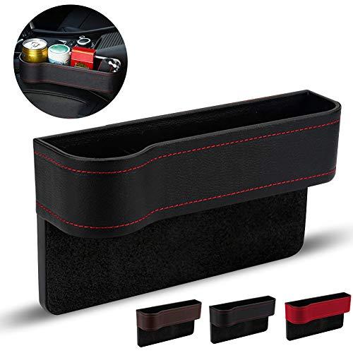 Auto Aufbewahrungsbox,Universal Auto Seat Gap Organizer Aufbewahrungsbox Konsole Seitentasche Ledersitz Spalt Aufbewahrungsbox,Autositz Gap Aufbewahrungsbox Organizer(Schwarz, links)