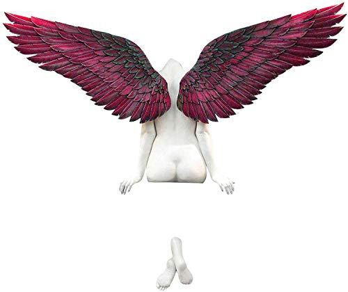Hanomes 3D EngelsflüGel Wandskulptur, Engel Statuen, Weinlese Engel Art Skulptur Wanddekoration Statue, Engel Kunst Skulptur Dekorative GroßE EngelsflüGel 3D Statue füR Wohnzimmer Schlafzimmer Dekor