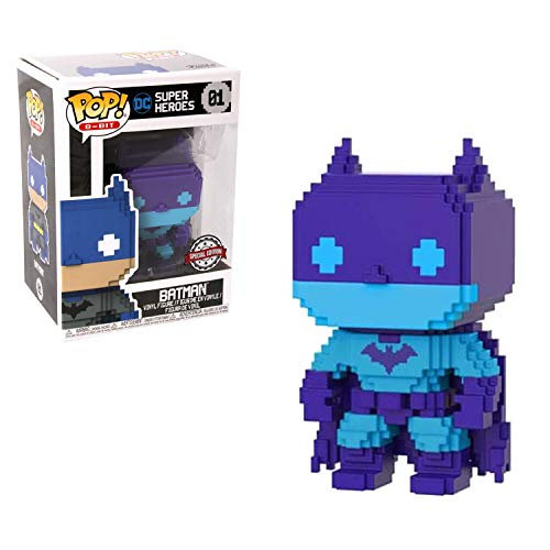 Pop! DC Super Heroes - Figura de Vinilo 8-bit Batman, Purple Exclusive