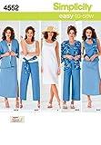 Simplicity 4552 AA - Patrones de Costura para Ropa de Mujer (Tallas Grandes)