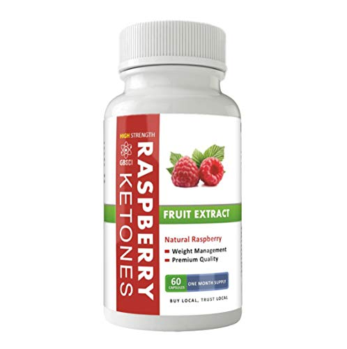 GBSci Raspberry Ketones Natural High Strength 2000 mg Daily One Month Supply