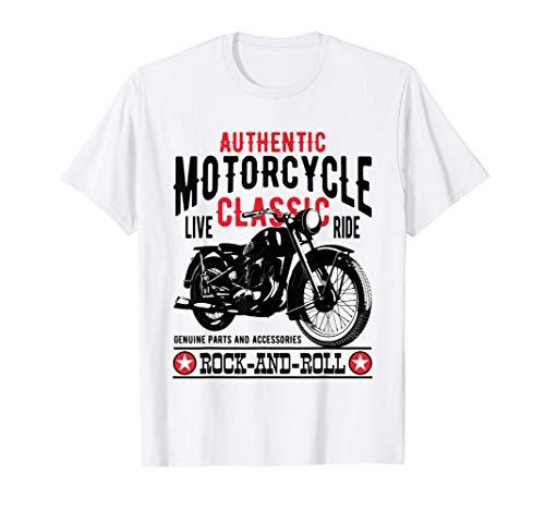 Motero Ropa Motera Mujer Hombre Retro Vintage Motor Moto Camiseta