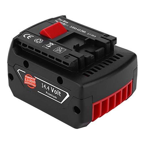 Batería recargable de iones de litio, BAT607 Batería recargable de iones de litio de 14,4 V para taladro inalámbrico de herramientas eléctricas Bosch(4000mAh)