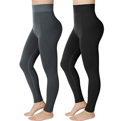 Emooqi Mallas Deporte Mujer, Leggings Deportivos de Cintura Alta Pantalones Mujer de Yoga Elásticos para Pilates Running Fitness Training