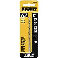 Dewalt DW1312 3/16 Inch Titanium Split Point Twist Drill Bit