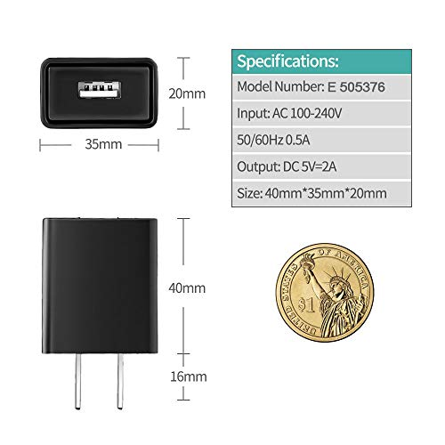 """Kindle Fire HD HDX Charger, Rapid USB Charger Adapter Compatible Kindle Fire HD, HDX, HDX 8.9"""", 5FT Extra Long USB Charger Cord Charging Cable"""