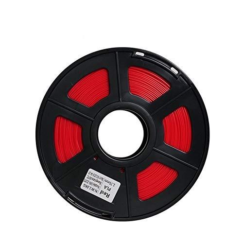 Sbeautli Stampa 3D Consumabili Materiale PLA E Ad Alta Resistenza Linea di Stampanti PLA Filamento Stampante 1,75 Mm 3D for 3D La Stampa del Filamento di PLA per Stampante 3D e Penna 3D (Color : Red)