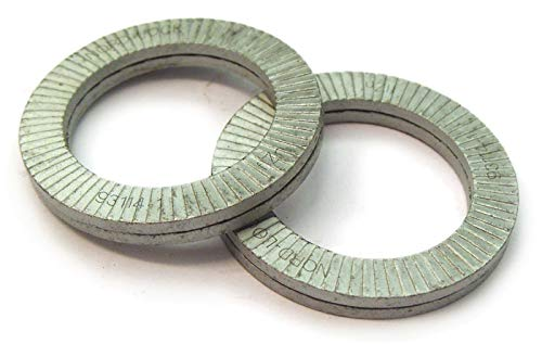 Hard M24 4 glued Pairs//Pack Wedge Locking Washer Carbon STL Zinc Flake Coated THR