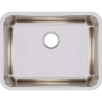 Elkay ELUH211510 Lustertone Classic Single Bowl Undermount Stainless Steel Sink