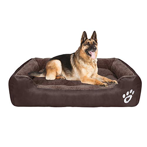 CLOUDZONE Dog Bed Machine Washable Rectangle Breathable Soft PP Fiber with Nonskid Bottom Extra Large Pet Bed for Medium and Large Dogs or Multiple