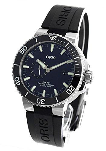 オリス アクイス スモールセコンド デイト 500m防水 腕時計 メンズ ORIS 743 7733 4135R [並行輸入品]