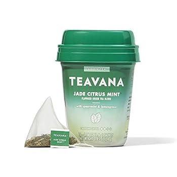 Teavana Jade Citrus Mint Green Tea With Spearmint and Lemongrass 60 Count  4 packs of 15 sachets