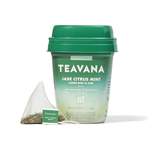 Teavana Jade Citrus Mint Green Tea With Spearmint and Lemongrass 60 Count 4 packs of 15 sachets