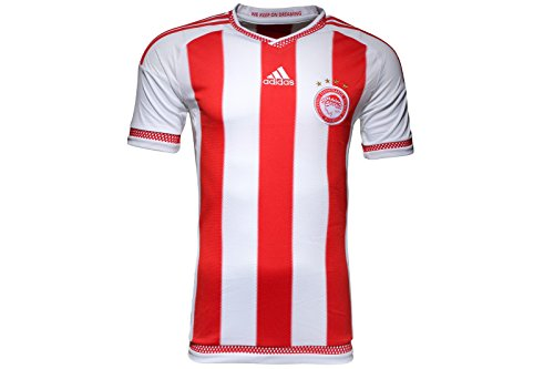 adidas Olympiacos 15/16 S/S Home Football Shirt - Size L